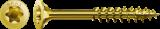 500 Stück 4,5x45 mm Spax Universalschrauben Yellox mit Teilgewinde, Senkkopf, T-STAR plus Antrieb (T20) und 4CUT